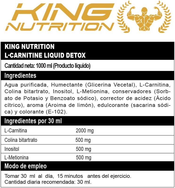 L-CARNITINE LIQUID DETOX 1litro Limon King Nutriton carnitina ...