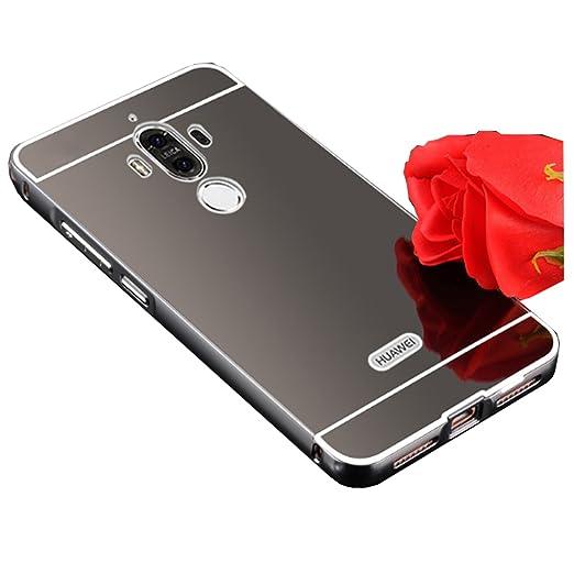 "5 opinioni per LXHGrowH Huawei Mate 9 Cover, Custodia a Specchio per Huawei Mate 9 5.9"" Metallo"