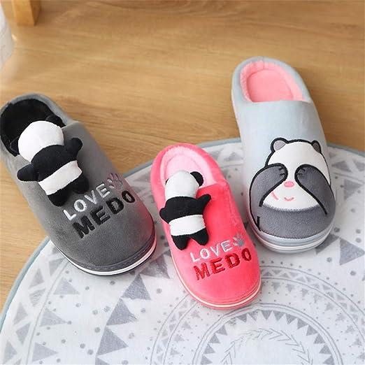 WERTY Home, Zapatillas de algodón para Padres e Hijos, cálido ...