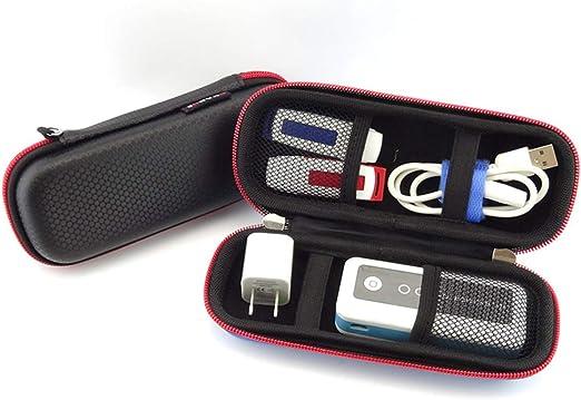 GHKJOK ハードトラベルケース レコーディングペン Eタバコ 1TB 2TB 3TB 4TB USB 3.0 ポータブル外付けハードドライブ 大容量(ブラックサンテクスチャー 長方形バッグ)