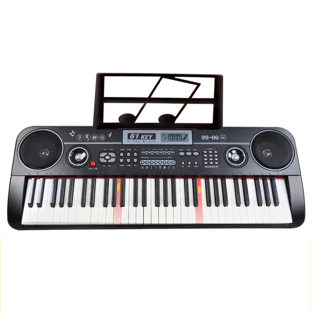DUWEN Órgano electrónico infantil con micrófono Piano multifuncional de 61 teclas (Color : Pink): Amazon.es: Instrumentos musicales