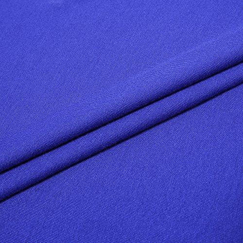 Ca Manches Et Casual Femmes Courtes T Shirt Epaule Nu Kra Blouse Bleu Chemise Tunique raqrYwA