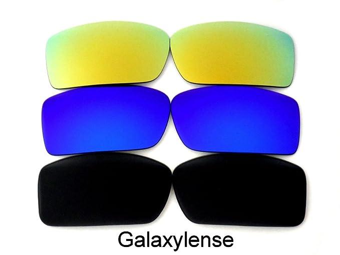 Lentes de repuesto para Oakley Gascan Negro y Azul y Oro Color Polarizados  -3 Pares 50f2aa8cda