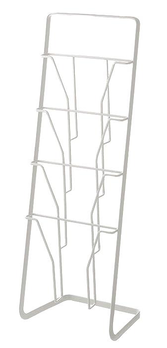 YAMAZAKI home Tower Magazine Rack, White