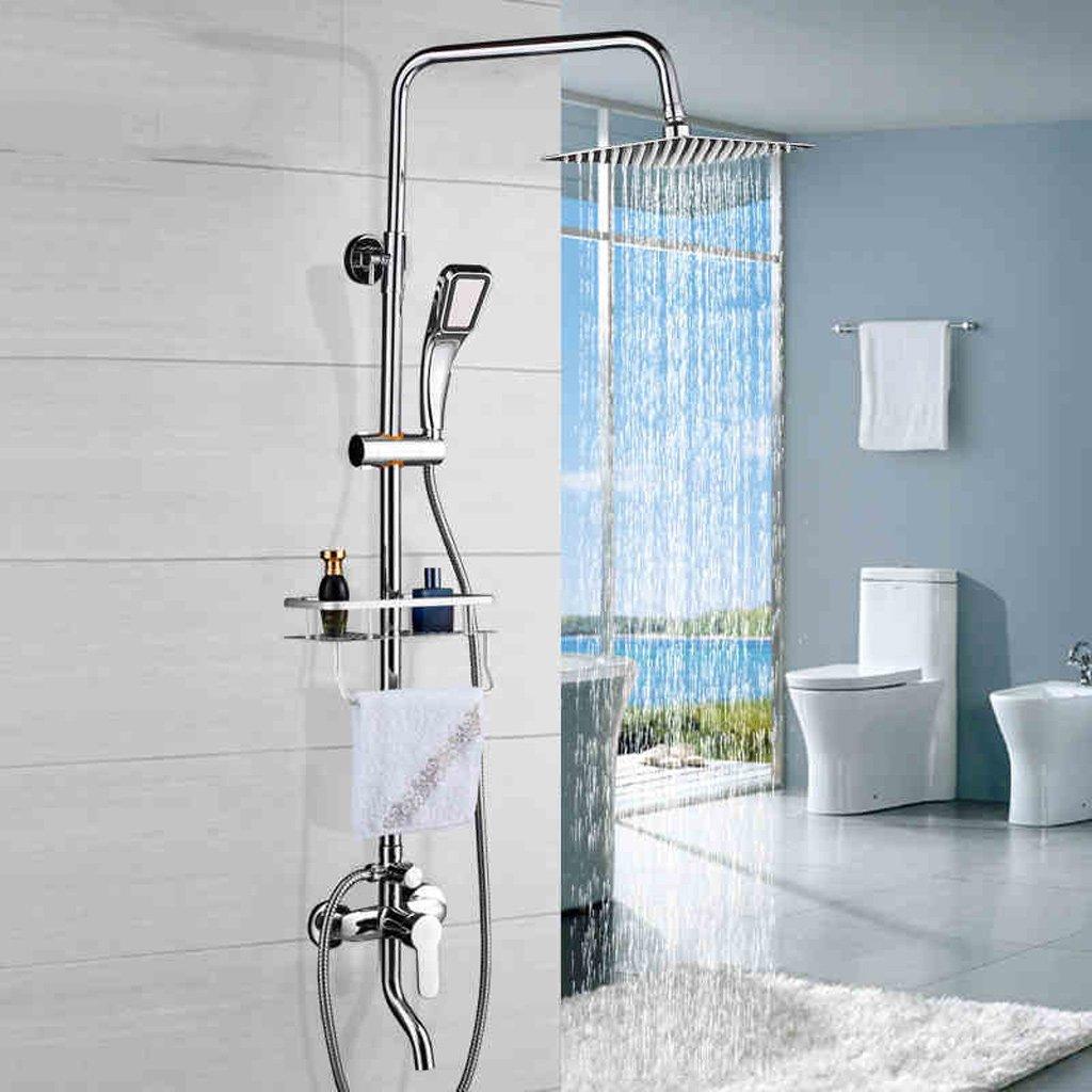 Setzt all-Kupfer Duscharmatur regen Spritzdüse unter Druck Anzug schlank heiße und kalte Dusche