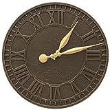 Whitehall Geneva 16'' Indoor Outdoor Wall Clock (Wall Clock, French Bronze)