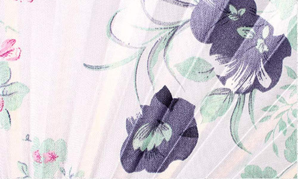 Stile Giapponese Blu Ceramica XMorning Ventaglio Elegante a Forma di Conchiglia Seta e bamb/ù