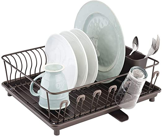 Amazon.com: MDesign - Cubertería y escurreplatos de cocina ...