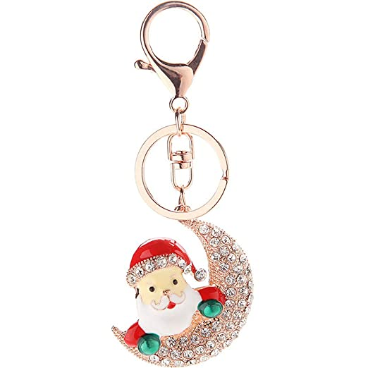 Weihnachten Weihnachtsmann Flauschig Ball Schlüsselanhänger Auto Schlüsselrin