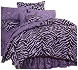 Karin Maki Zebra Complete Bedding Set, X-Large Twin, Lavender