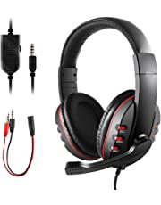 JAMSWALL Gaming Headset for PS4 Xbox One S 3.5mm Wired Over-head Stereo Gaming Headset Headphone with Mic Microphone, Volume Control for SONY PS4 PC Tablet Laptop Smartphone Xbox One S