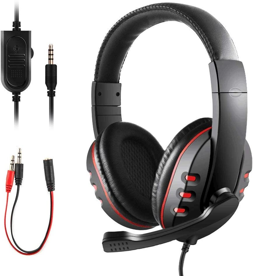 Gaming Headset for PS4 Xbox One, JAMSWALL 3.5mm Wired Over head Stereo Gaming Headset Headphone with Mic Microphone, Volume Control for SONY PS4 PC