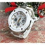 カシオ CASIO 腕時計 G-SHOCK Gショック ウォッチ メンズ ジーショック 電波ソーラー 大人のG-SHOCK Gスチール 白いラバーベルト GST-W300-7AJF 国内正規品