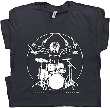 Mens Funny THE ORIGINAL DRUMMER Drum Drumming Music T-Shirt Instrument
