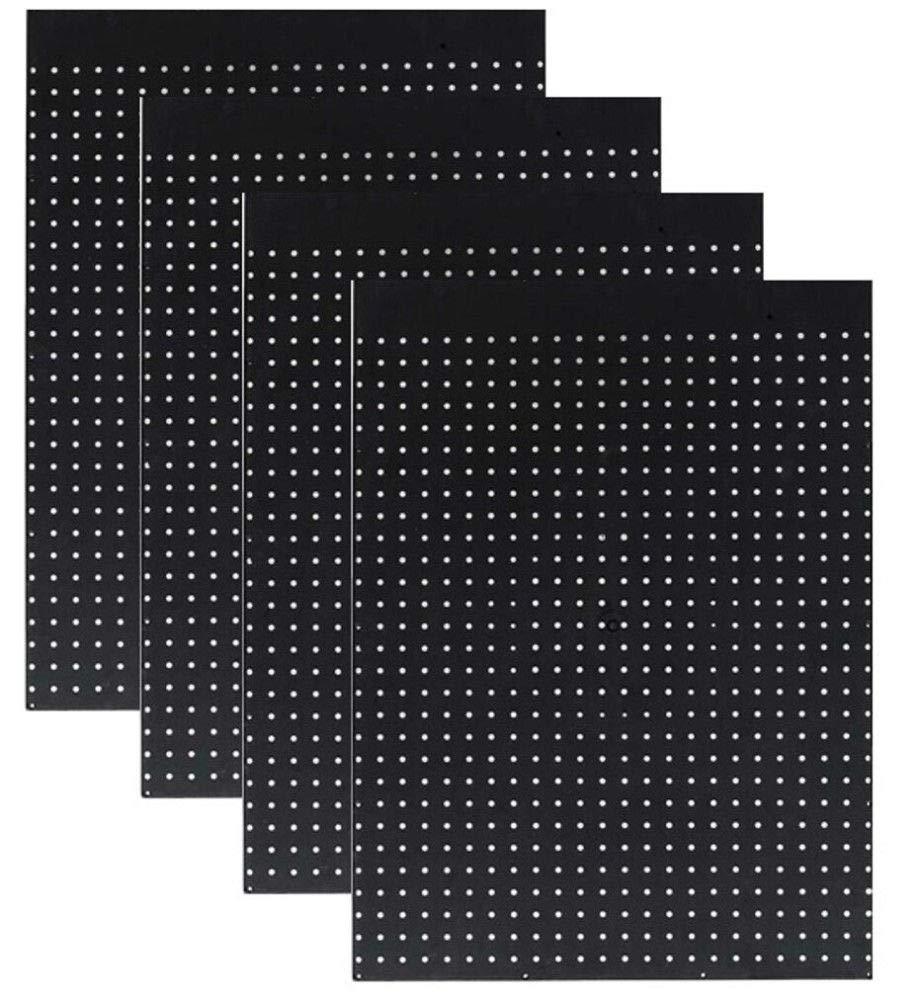 Case of 12 Ea. 24'' x 32'' Black Pegboard Panels 1/4'' Hole Polypropelene
