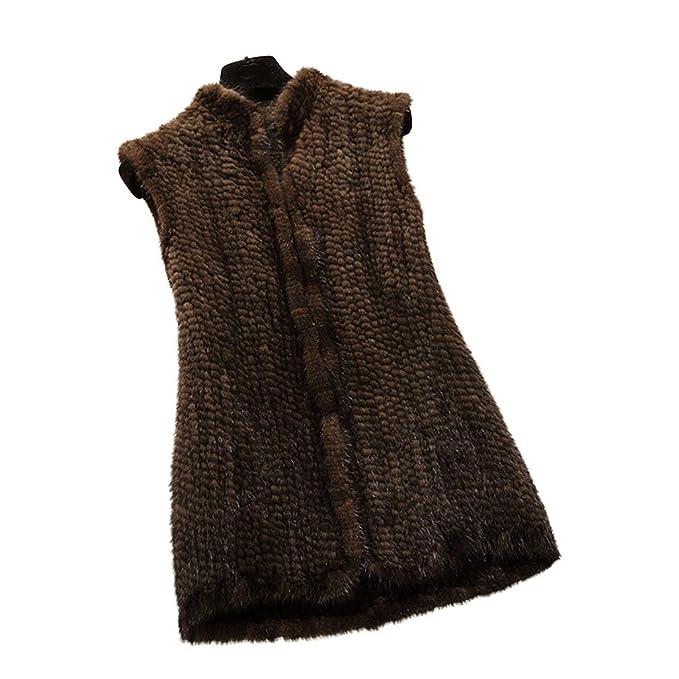 Fur Sans 16208b Gilet Vison De Femme Story Long Vrai Moyen Fourrure w6aSq7w