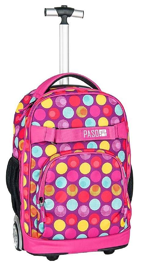 salvare a6b4d 6e609 Paso Grande Zaino Trolley Pink Sport Pois FEMMINA Ragazza ...