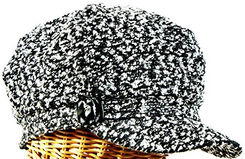 40d167a3834 Hat Stuff Loft Tweed Mix Newsboy Cap with Button Accent at Amazon ...