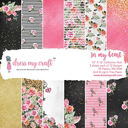Dress My Crafts Single-sided Paper Pad 12