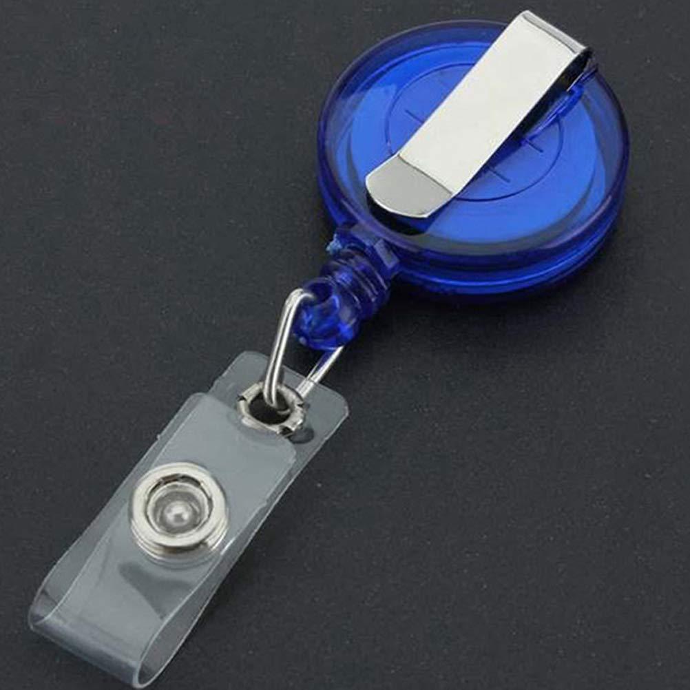 STOBOK Porta tessere porta badge identificativo retrattile con clip per ufficio 12 pezzi colore casuale