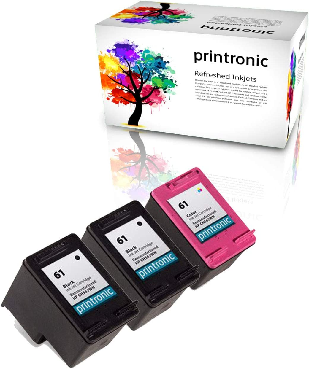 Amazon.com: printronic 3 Pack Remanufacturado HP 61 Ink ...