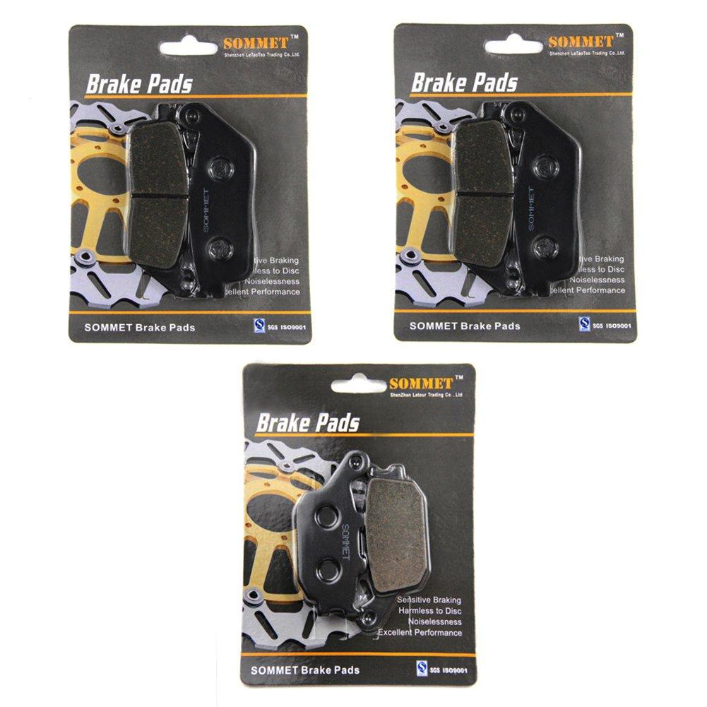 SOMMET Pastillas de freno Delanteras + Traseras para Honda CBF 600 N (N4-N9/NA) (Non ABS) (2004-2011)