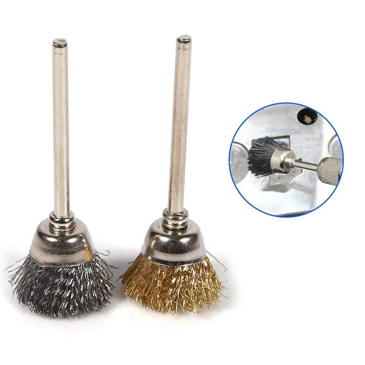 6mm Steel Wire Brush Polishing Wheels Full Kit for Dremel Rotary Tools US