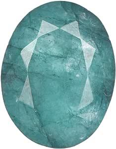 Real Gems Esmeralda Natural 7.00 CT de Piedras Preciosas Sueltas, Hermosa Piedra Esmeralda, Piedras Preciosas Sueltas de Talla Esmeralda cerificada