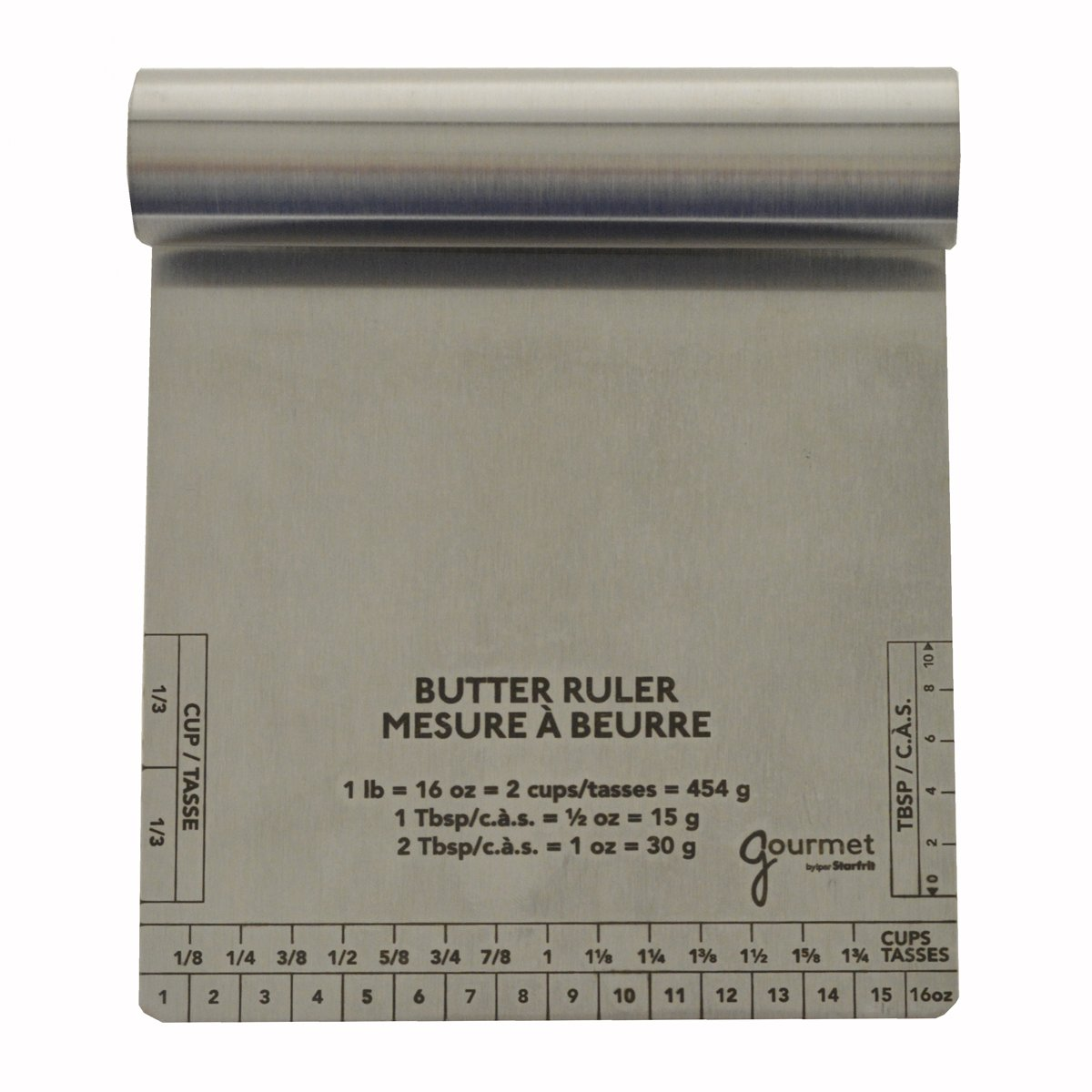Gourmet by Starfrit 803485 Butter Measure and Scraper, Silver 080485-006-0000
