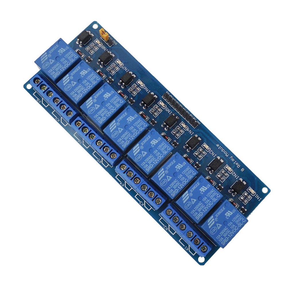 12v 8 Channel Relay Module8 Shield Module For Electromagnetic Computer Arduino Uno 2560 1280 Arm Pic Avr Stm Computers Accessories