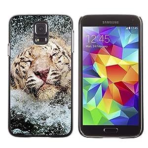 Stuss Case / Funda Carcasa protectora - Tiger Water Happy Swimming Africa Animal - Samsung Galaxy S5 SM-G900