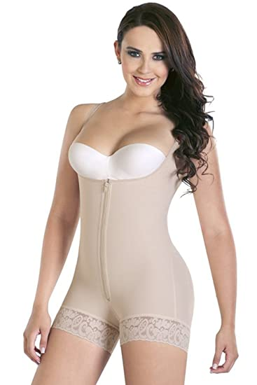 a41a014ad082c Babyonlinedress Women s Underbust Sexy Zip-up Mid-Thigh Corset Slimming  Shapewear(Nude
