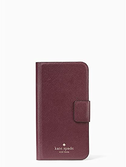 sneakers for cheap 20b4c 2dde0 Amazon.com: Kate Spade New York Leather Wrap Folio Case for iPhone X ...