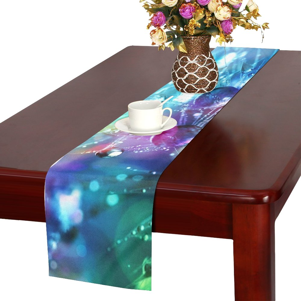 Abstract Shining Color Luminescence Decoration Table Runner, Kitchen Dining Table Runner 16 X 72 Inch For Dinner Parties, Events, Decor