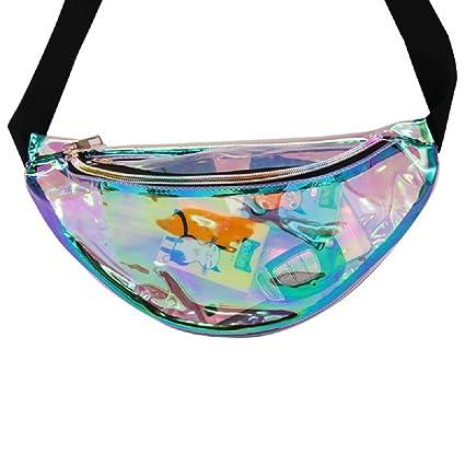 Samidy - Mochilas holográficas para mujer con cintura ajustable