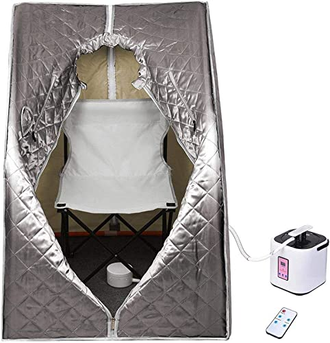 LiveCreative Portable Steam Sauna Personal Spa Tent Bath w/Chair Remote