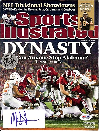 Mark Ingram Autographed Sports Illustrated Magazine Alabama Itp 105145 PSA/DNA Certified Autographed College Magazines