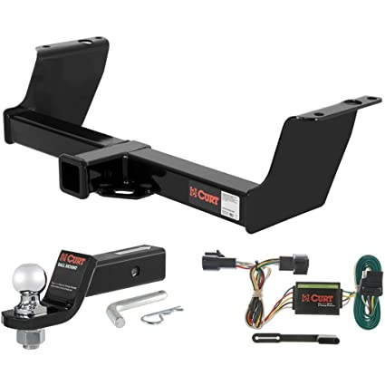 amazon com: curt class 3 trailer hitch tow package with 2