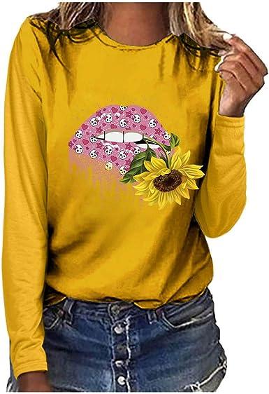K-Youth Sudaderas Mujer Tumblr Camisetas de Manga Larga Mujer ...