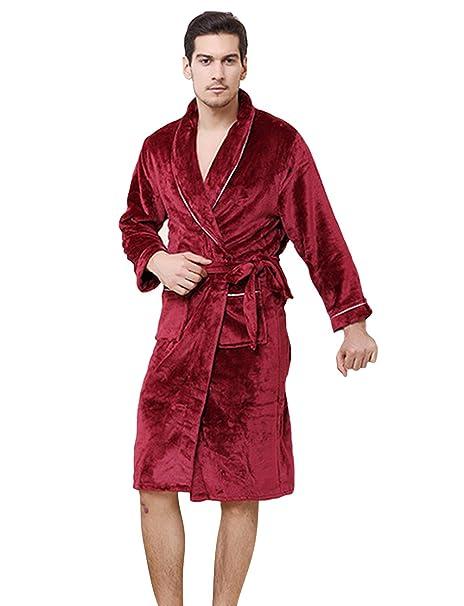 Genda 2Archer Batas de Baño para Hombres y Mujeres Hotel SPA Kimono Nightwear (3XL,