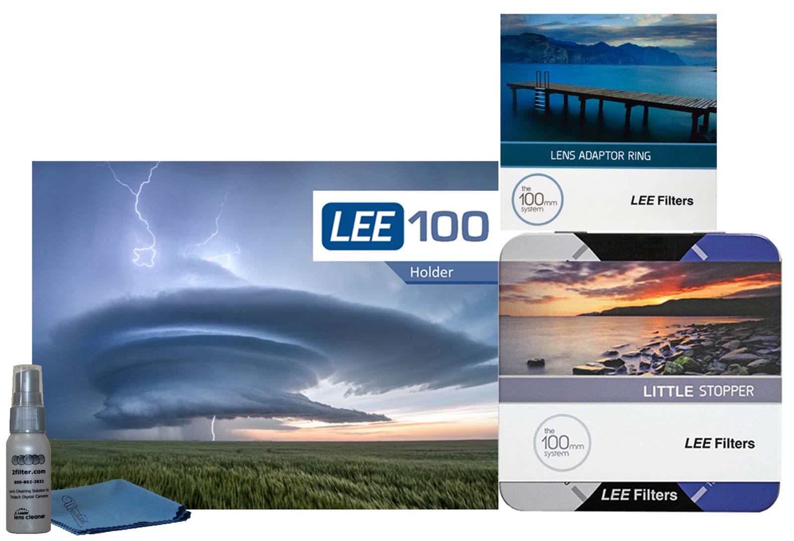 LEE Filters LEE100 77mm Little Stopper Kit - LEE100 Holder, 100mm Little Stopper, 77mm Wide Angle Ring