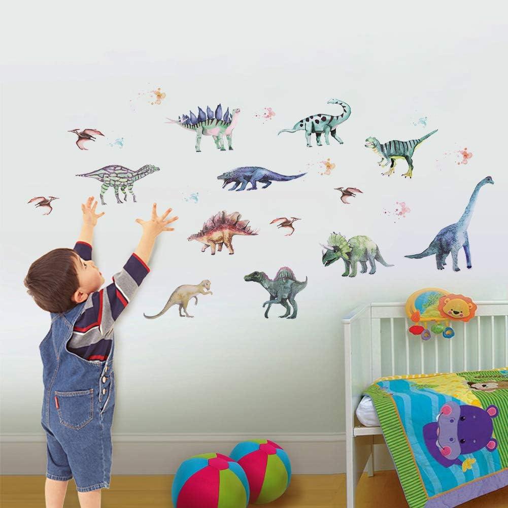 OOTSR Dinosaur Wall Decals, Mural Wall Decal Sticker for Boys Girls Bedroom Decor Nursery Room Home Decor