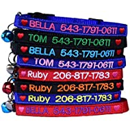Graceful life Custom Breakaway Cat Collar Personalized with Bell