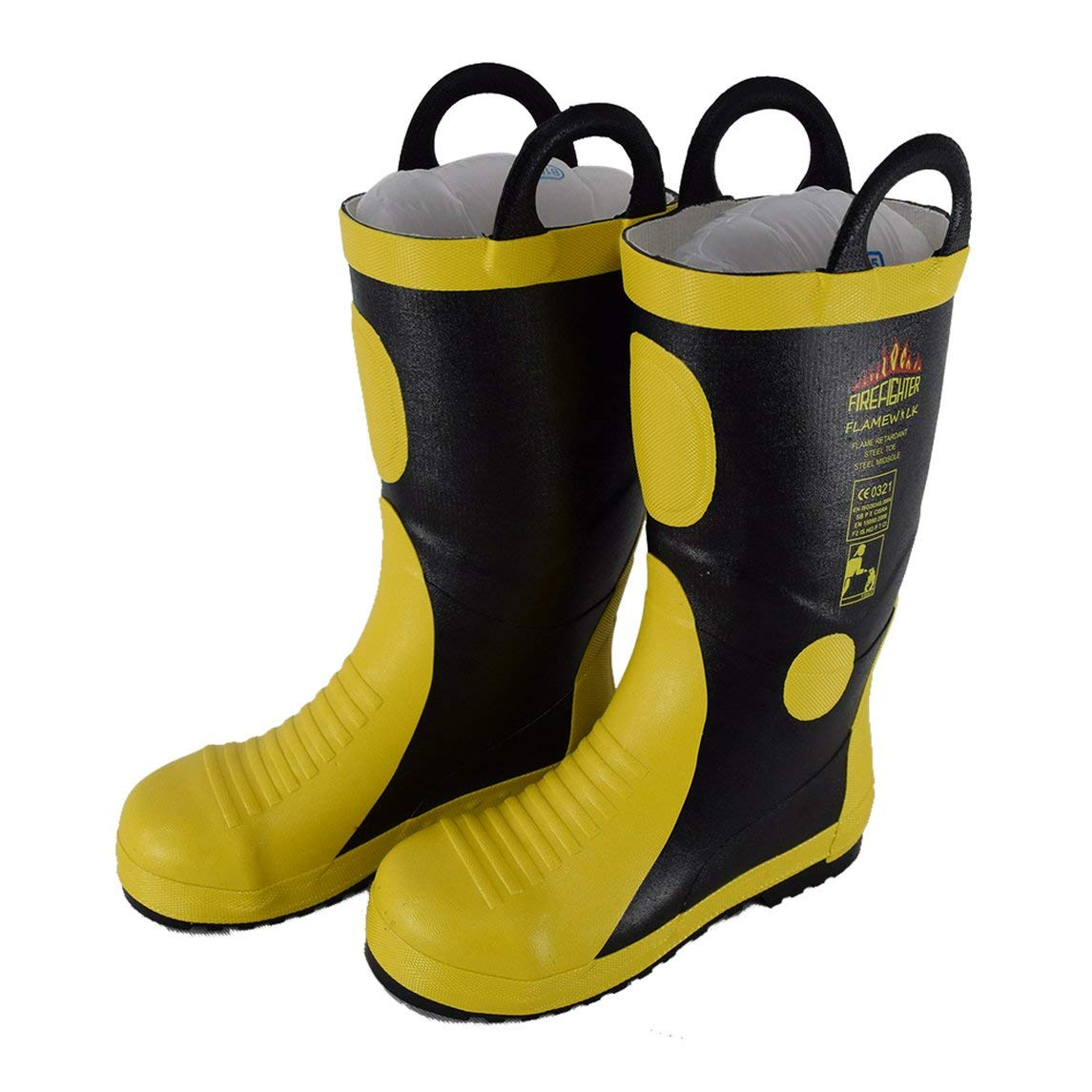 DA-085 High Temperature Resistant Rubber Fire Fighting Safety Boots Work Boots