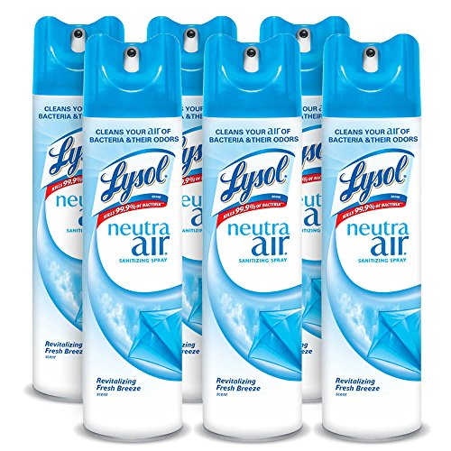(Lysol Neutra Air Sanitizing Spray, Fresh Breeze, 60oz (6X10oz), Air Freshener, Odor Neutralizer)