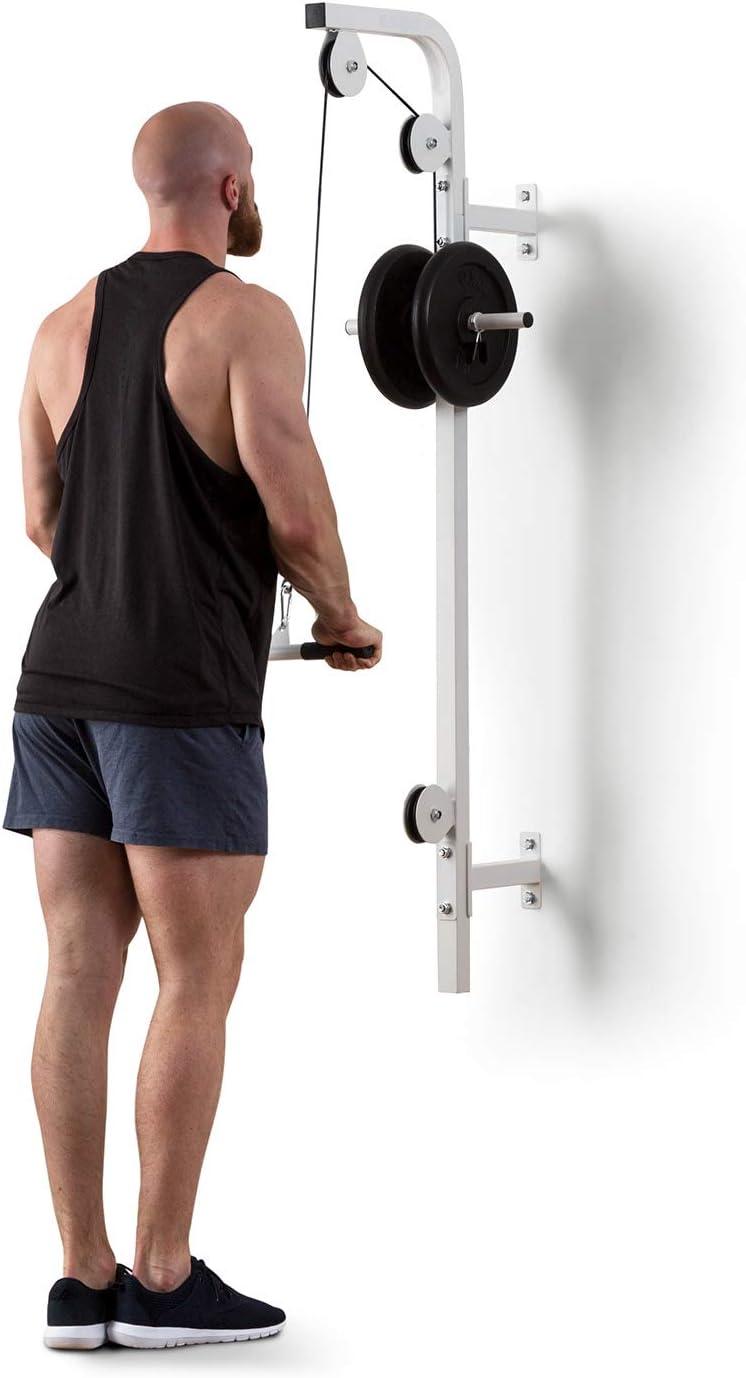 Klarfit Hangman Tirador Lat - Estación Fitness polea, Instalación en Pared, Carga máx.: 100 kg, Cable DE 2,5 m