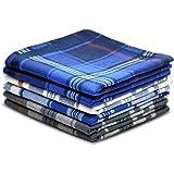 Pure Cotton Men's Soft Handkerchiefs Assorted Color Pack of 6 Gift Set by Zenssia