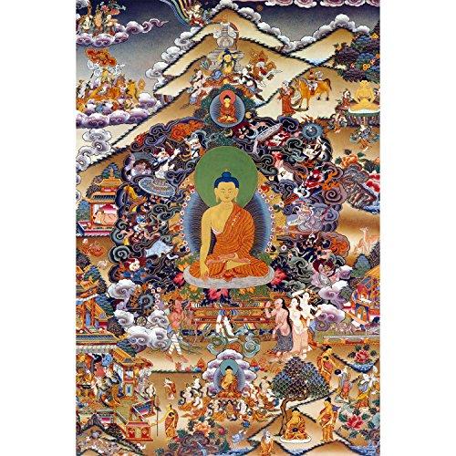 (Footprints of Enlightenment Tibetan Wall Art)