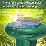 LOMEREY 2 Pack Sonic Mole Repellent Solar Powered Gopher Repellent Ultrasonic Vole Deterrent Mole Spike Rodent Chaser Repeller for Lawn Garden Outdoor Pest Control Products Get Rid of Moles in Yard