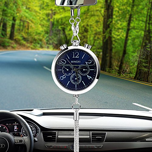 SalaBox-Accessories - Alloy Car Clock Perfume Air Freshener Refill Storage Hanging Pendant Auto Rearview Mirror Interior Decoration Ornament Fragrance from SalaBox-Accessories